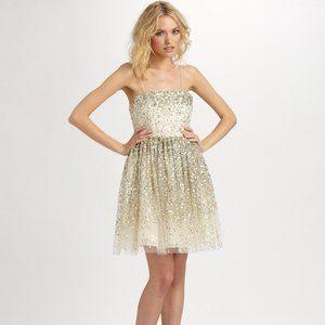 NWT Alice + Olivia Tallulah Princess Dress in Gold